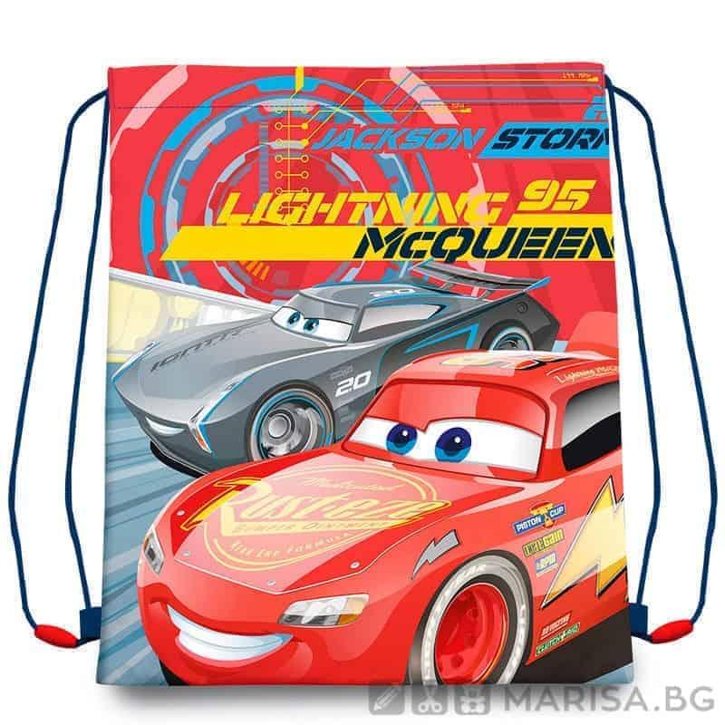 Торба за спорт Cars, за момче, червена