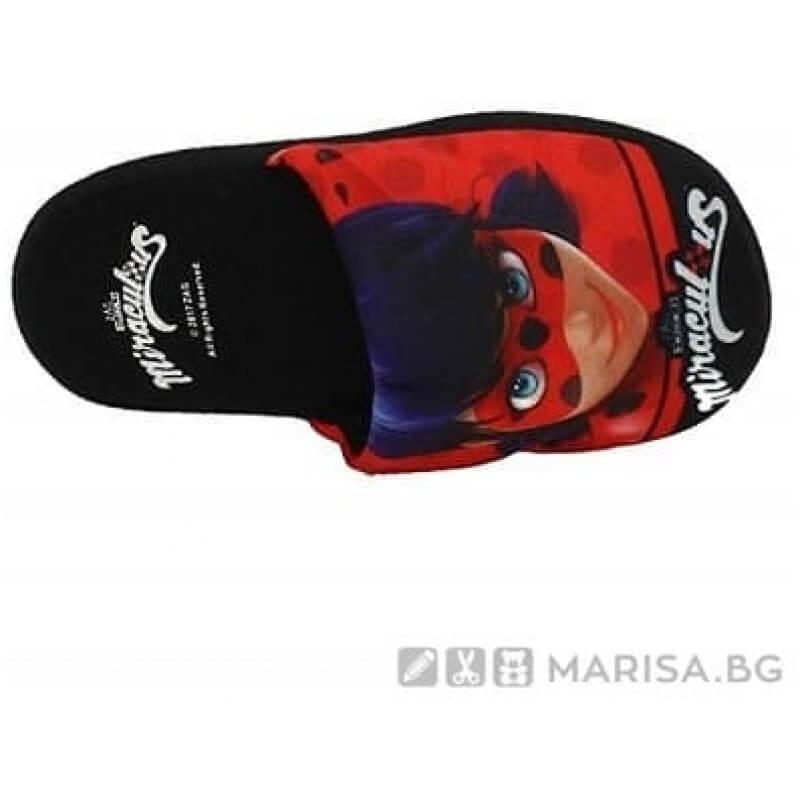 Домашни пантофи Ladybug - Калинката и черния котарак - Marisa.BG