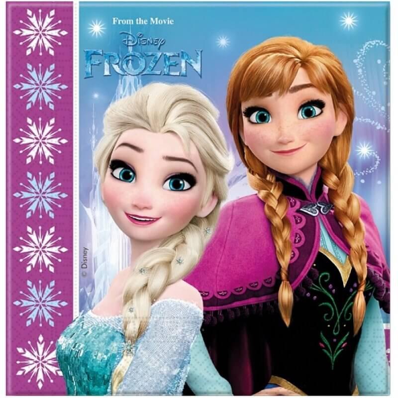 Парти салфетки Frozen Disney, 20 броя в пакет