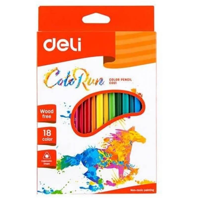 Цветни моливи Deli EC00110 Colorun, 18 цвята