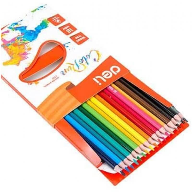 Цветни моливи Deli EC00110 Colorun, 18 цвята - Marisa.BG
