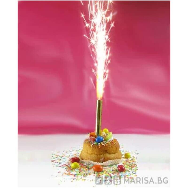 Фонтан за торта 18 см - фоерверк за торта - Marisa.BG