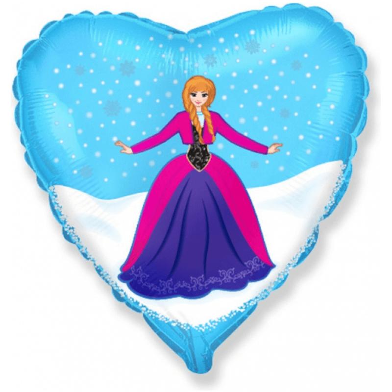 "Фолиев балон Frozen Анна 18"" - 46 см"