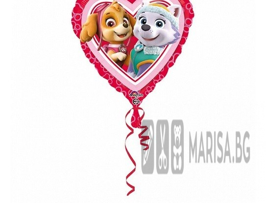 Фолиев балон Paw Patrol Love - Girl - 18', 46 см