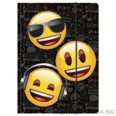 Папка с ластик Emoji, Усмивки A4