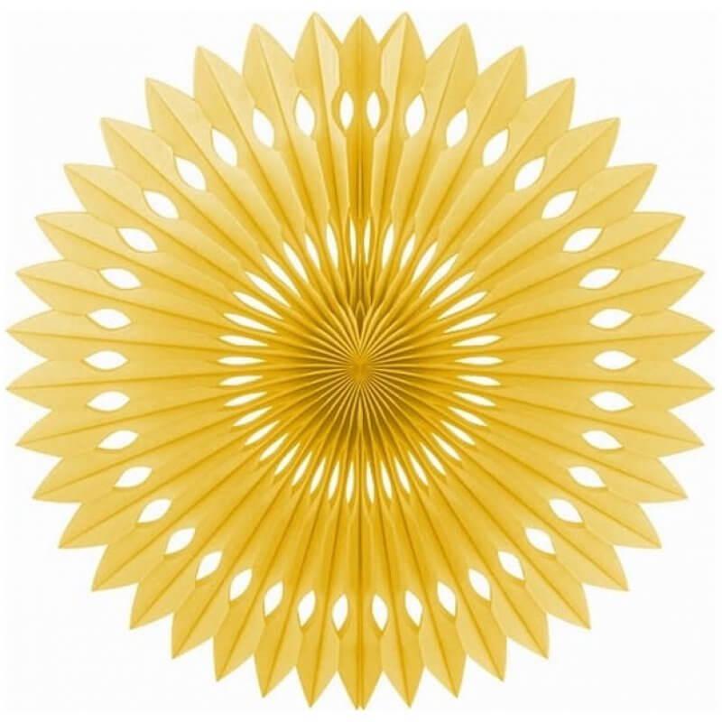 Декорация Розетка, златна, 40 см
