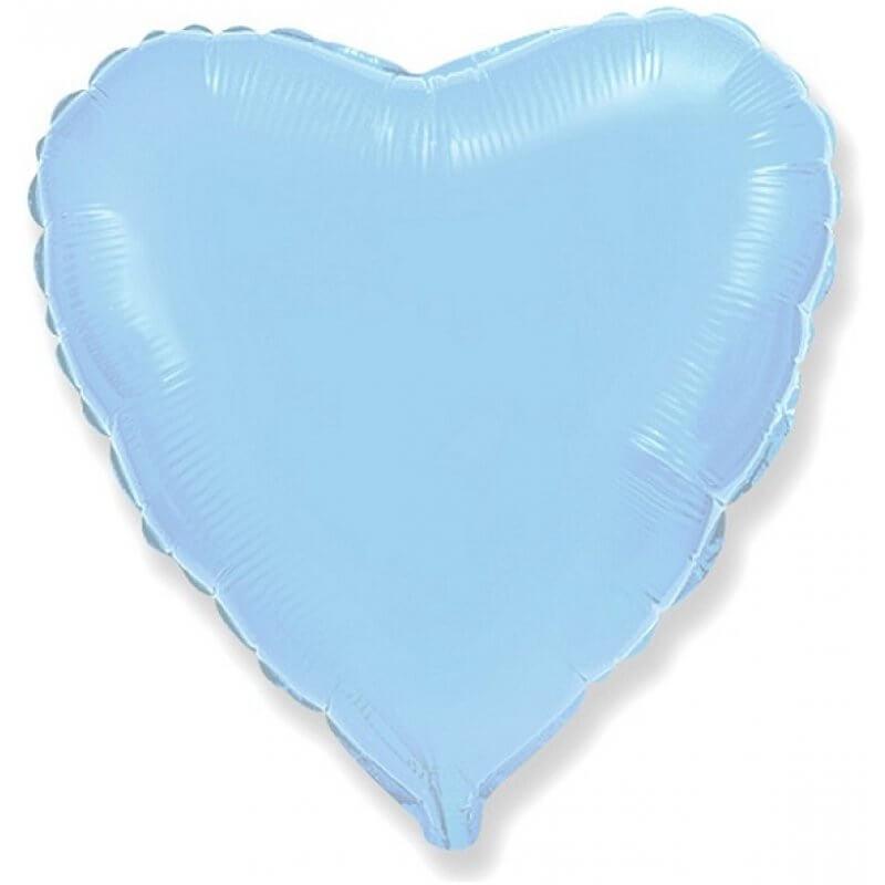 Фолиев балон Сърце 71-79 см, светлосин