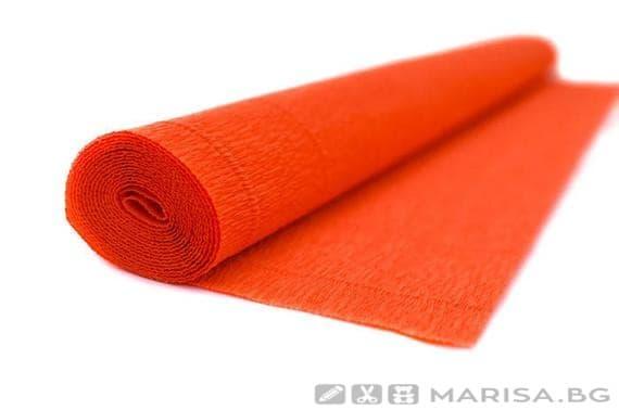 Креп хартия Оранжева 50 cm х 2,50 m - 140 g