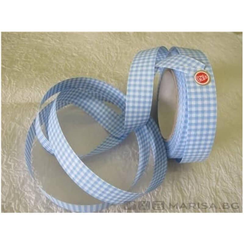 Панделка с точки 3 см / 50 ярда - Бебешко синьо