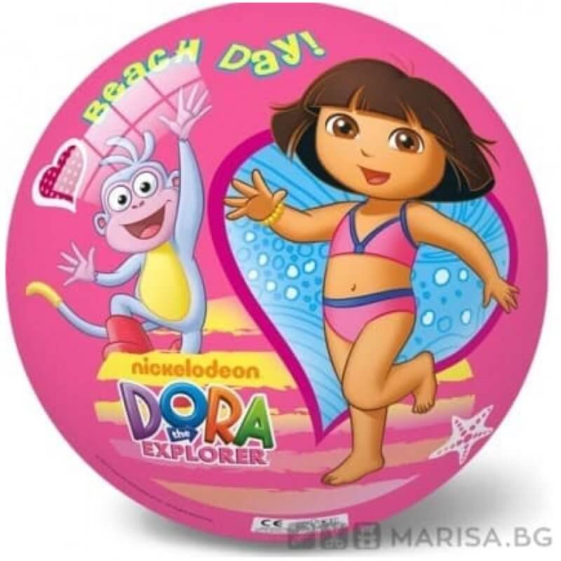Детска топка с картинки Dora - Откривателката 23 см