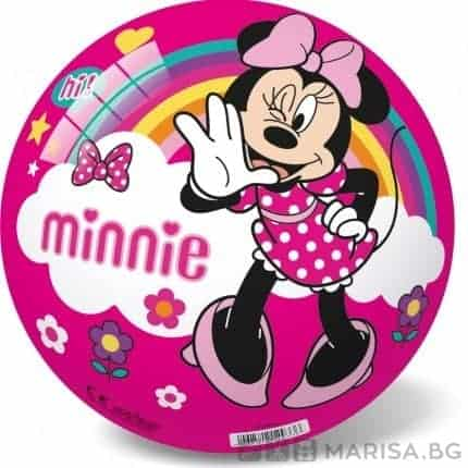 Детска топка Minnie Mouse 14 см, розова