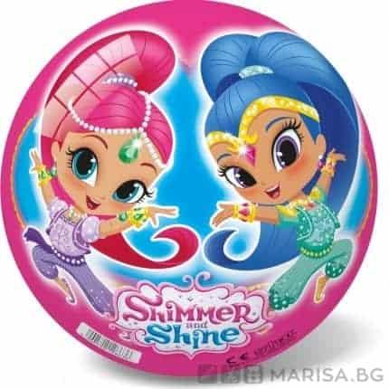 Детска топка с картинки Shimmer and Shine - 23 см