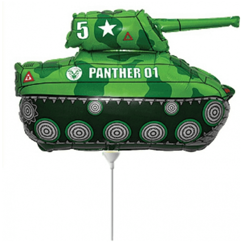 Фолиев балон Танк Пантера - 35 см, зелен