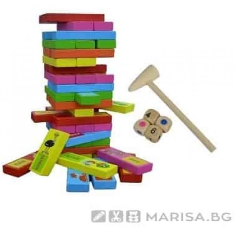 Детска занимателна игра Дженга с животни - Marisa.BG