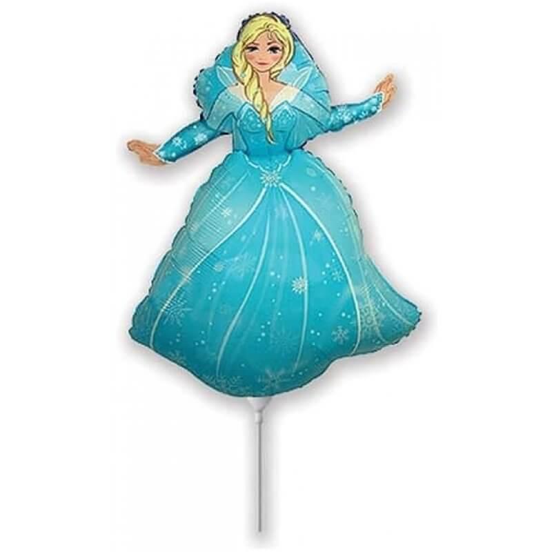 Фолиев балон Frozen Елза – 35 см, син