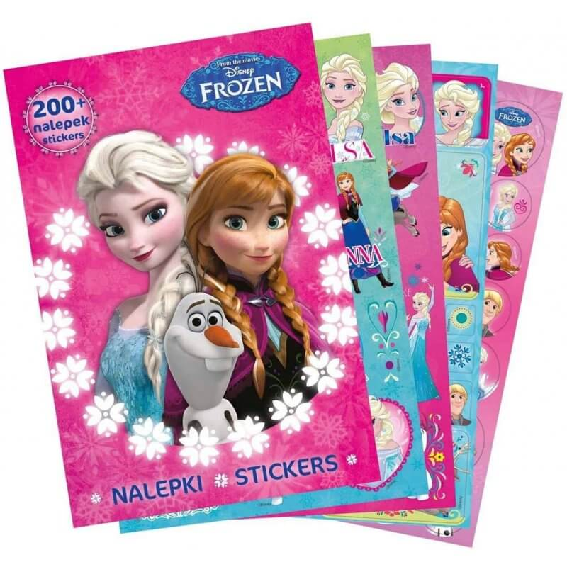 Комплект за оцветяване Frozen + 200 стикера