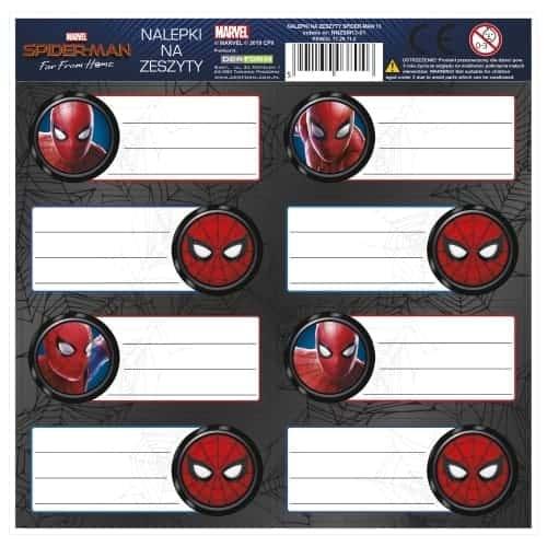 Самозалепващи ученически етикети Spiderman