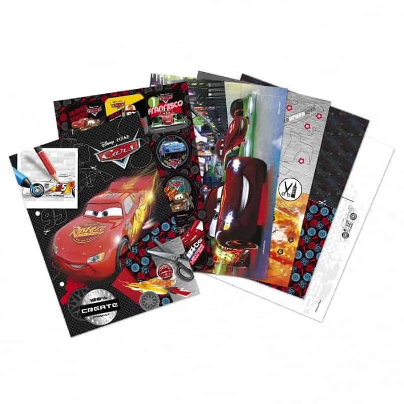 Креативен комплект албум със стикери Cars
