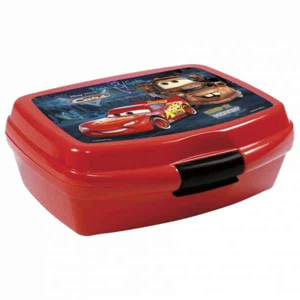 Кутия за храна Derform Cars за момче, червена