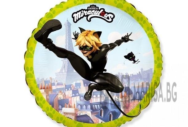 "Балон фолио 18"" FX - ""Miraculous - Cat Noir"" кръг"