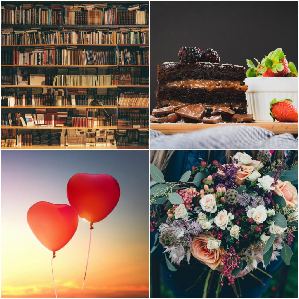 Книги, сладкиши, цветя, балони и други малки неща, които правят живота по-красив