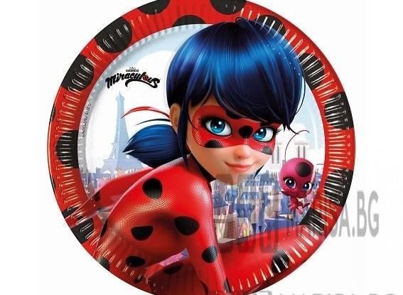 Чинии за детско парти Ladybug