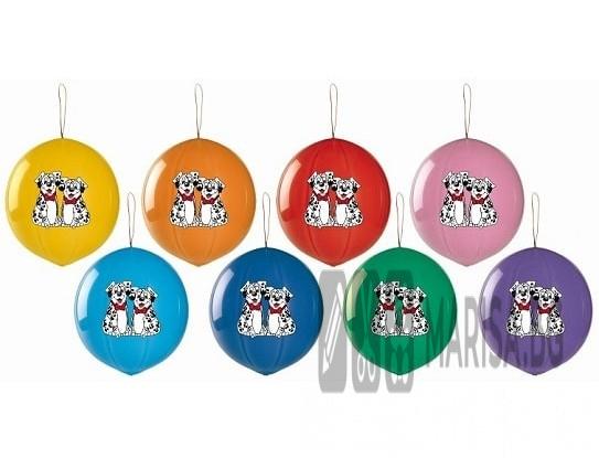 "Балони топка с ластик, пастел ""Далматинци"" - 3 бр."