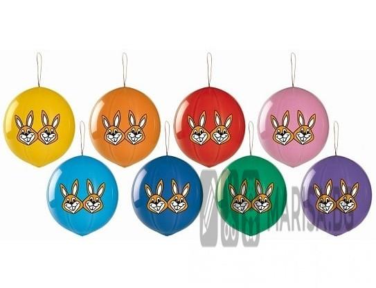 """Балони топка с ластик """"Зайци"""" - 3 броя"""