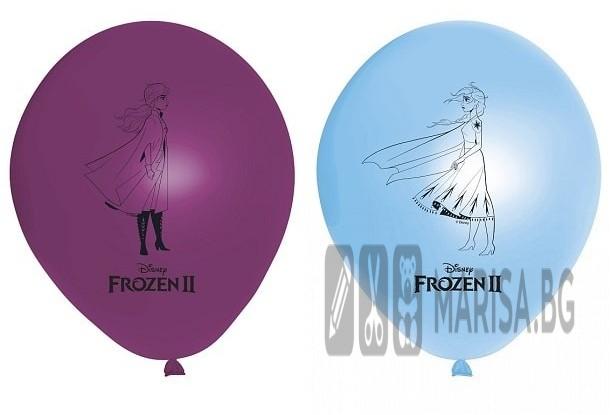 Балони с печат Frozen 2 Disney - 8 броя