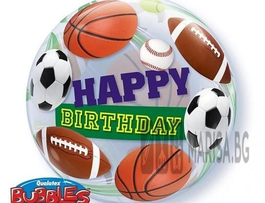 """Фолиев балон HAPPY BIRTHDAY SPORT 22"""" - 56 cm"""