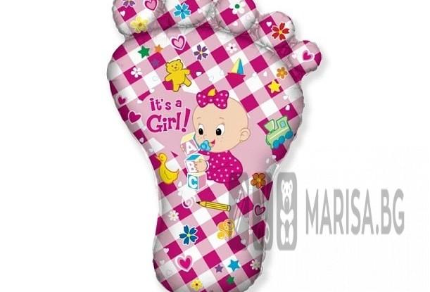"""Фолиев балон 24"""" - """"Краче бебе"""", розов, за момиче"""
