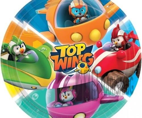 Парти чинии Top Wing, Топ Кадети, 23 cm, 8 броя