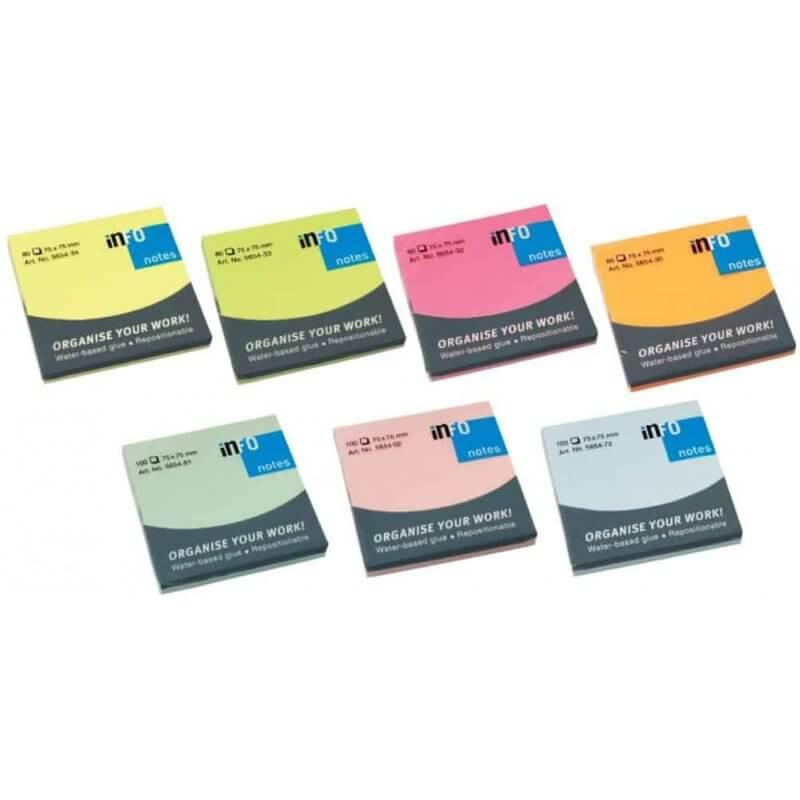 Самозалепващи листчета Info notes 75x75mm