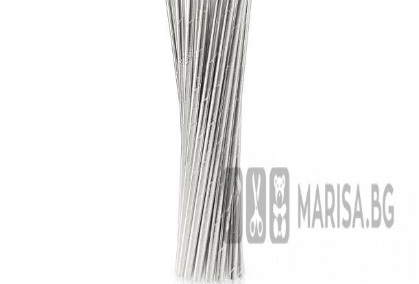 Комплект сламки Silver - сребърни, 24 броя