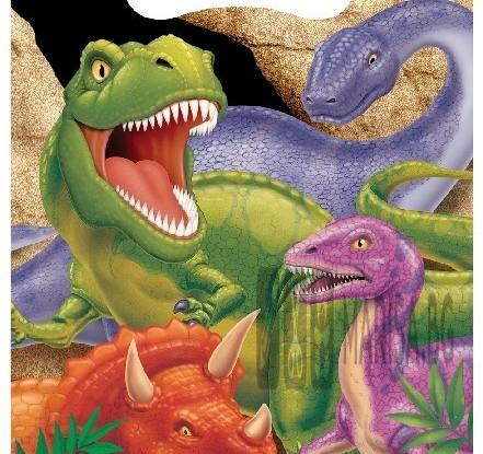 Комплект парти торбички с Динозаври - 8 броя