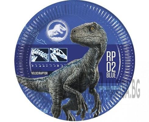 Хартиени чинии идеални за детско парти за рожден ден Декорирани с герои от динозавър Заедно с други елементи от серията ще създадат незабравима атмосфера Диаметър 23 см. В опаковката има 8 броя