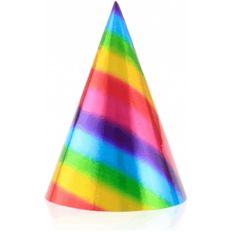 Шапки Rainbow Дъга, металик, 6 броя