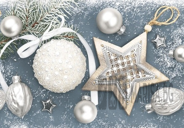 Салфетки зимна колекция Maki Silver Elegant