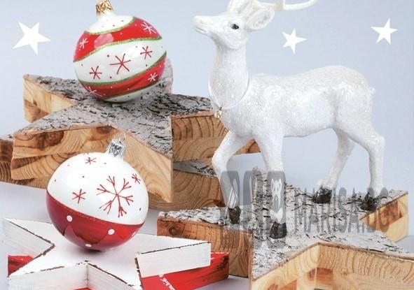 Салфетки Daisy Зимна колекция с елен и звезди