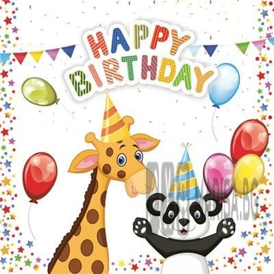 Салфетки Daisy Happy Birthday 20 броя в пакет