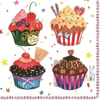 Хартиени салфетки Cupcake Maki - 20 броя