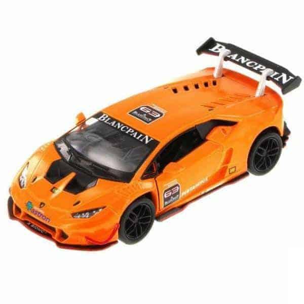 Метална количка Kinsmart Lamborghini Huracan LP620-2 Super Trofeo
