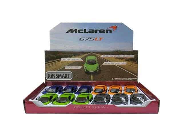 Метална количка Kinsmart McLaren 675LT