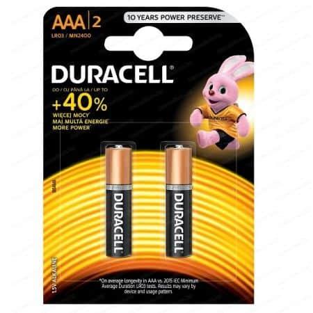 Алкална батерия Duracell AAA 2 броя, блистер