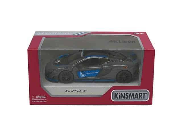 Метална количка Kinsmart McLaren 675LT with printing в кутия