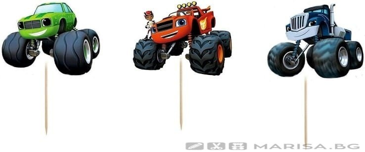 Комплект топери Blaze - Пламъчко и машините