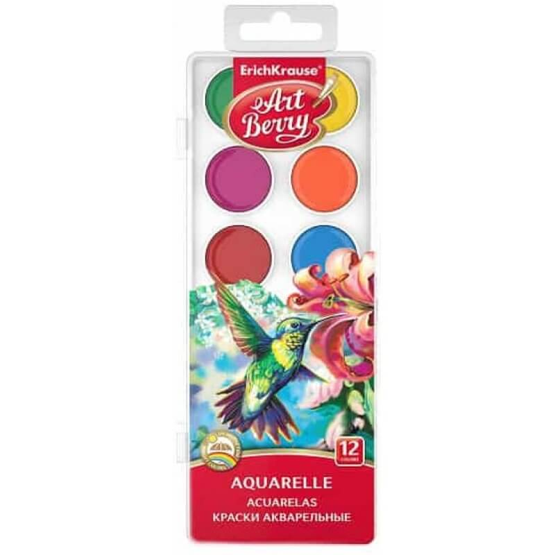 Акварелни бои ErichKrause ArtBerry UV, 12 цвята