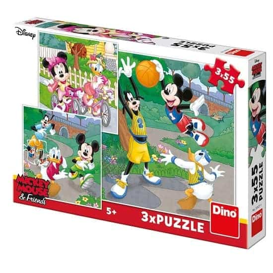 Детски пъзел Dino MICKEY & MINNIE Sport - 3х55 части
