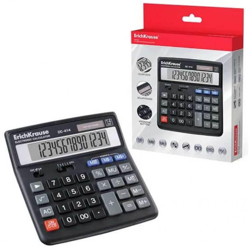 Настолен калкулатор ErichKrause DC-414, 14 разряден