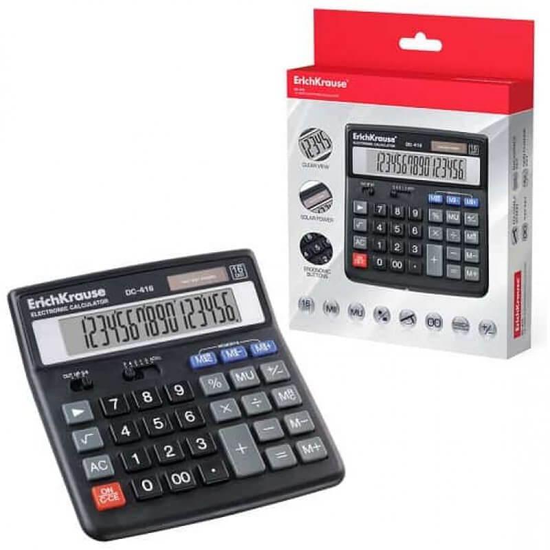 Настолен калкулатор ErichKrause DC-416, 16 разряден